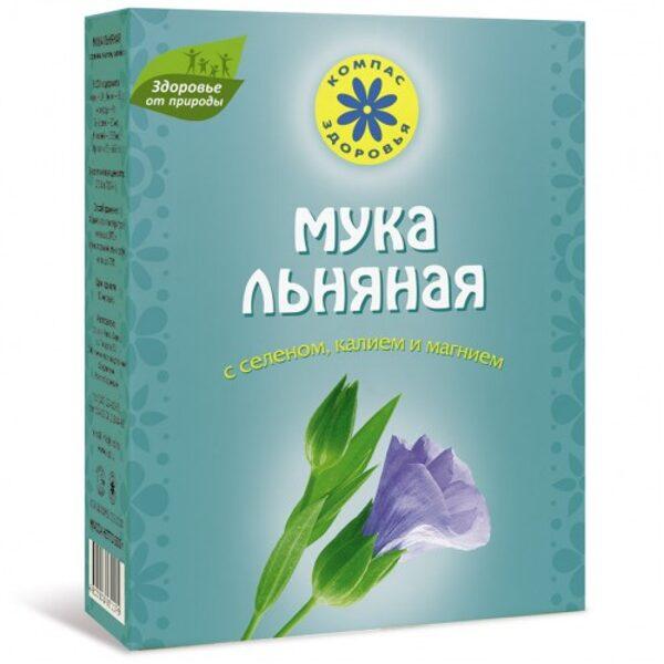 """LINSĒKLU MILTI """"Kompas Zdorovja"""" ar selēnu, kāliju un magniju, 300gr"""