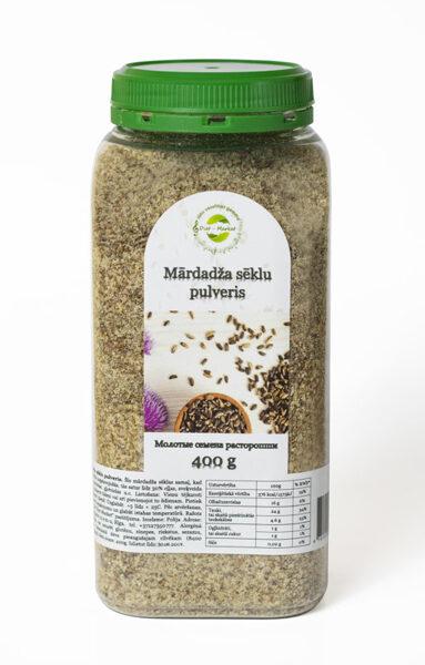 Молотые семена расторопши (шрот или мука) 400г