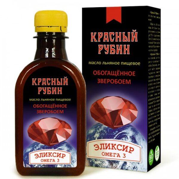 Красный Рубин льняное масло с экстрактами трав 200мл