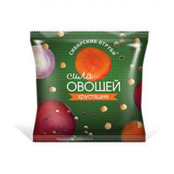 """Сибирские Отруби """"Сила Овощей"""" пакет 100гр хрустящие"""