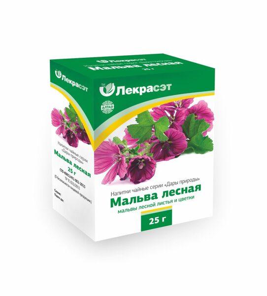 Мальва лесная (листья и цветки измельченные) (25 г )
